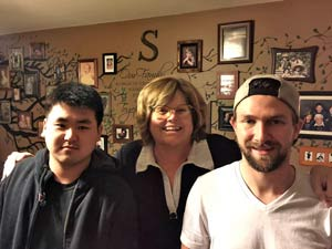 Cindy Sower with her boys